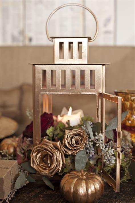 gold lantern centerpieces 25 diy thanksgiving decor ideas