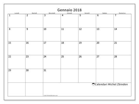 calendario per stare gennaio 2018 horus italia