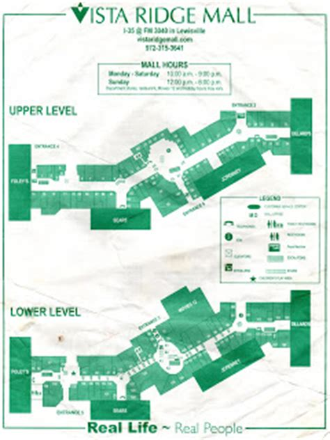 Layout Of Vista Ridge Mall | two way roads vista ridge mall
