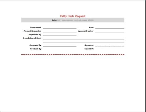 petty request form requesting letter templates word excel templates