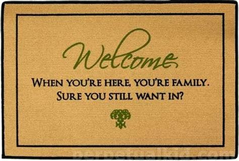 funny welcome casa mariposa
