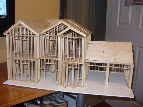 how to build a model house out of wood architectural scale model house