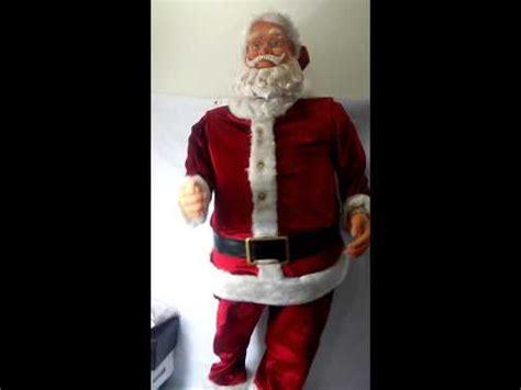 6 ft tall singing santa link gemmy 5ft size animated singing karaoke santa claus