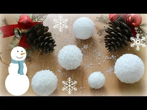 white cotton string fake snow 12 diys of snow balls