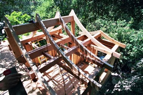 Curved Roof Construction Portfolio Nm Ridge Construction Roof Framing Contractor