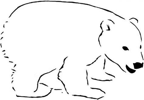 polar bear coloring pages print color craft