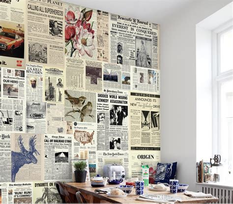 vintage newspaper wallpaper wallmaya european retro newspaper backdrop mural 3d wallpaper 3d wall papers for tv backdrop