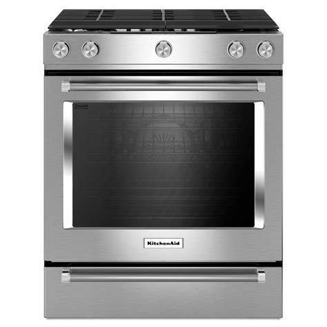 Kitchenaid Kitchen Appliances Reviews Kitchenaid 30 5 Burner Slide In Convection Gas Range