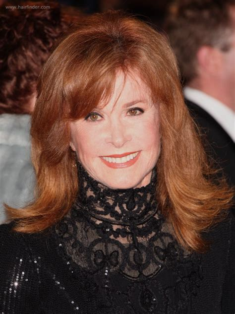 longer hair styles for a 70 year old woman stefanie powers flattering long hairstyle for a 70 years