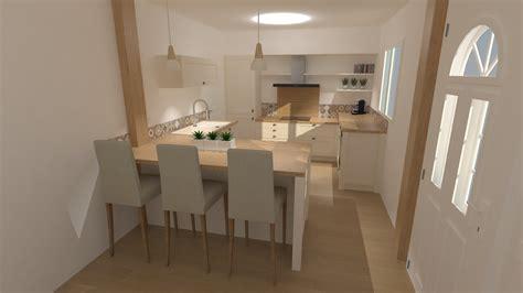 Incroyable Salle De Bain Blanche Et Grise #6: cuisine-amenagee-blanche-et-bois.jpg