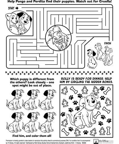 Mickey And Minnie Mouse Travel L0851 A3 2017 Print 3d Samsun 101 dalmations activity sheet diy travel activity