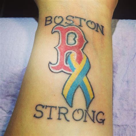 boston strong tattoo my boston strong my city tattoos