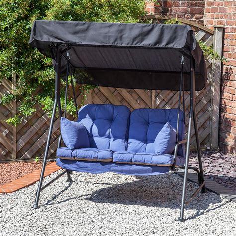 2 seater hammock swing garden patio 2 seater black swing seat hammock with
