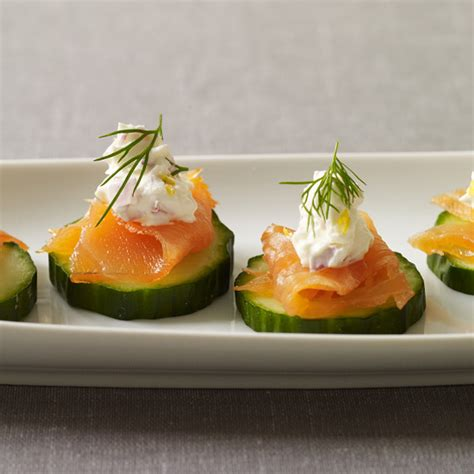 cucumber canapes smoked salmon and cucumber canapes