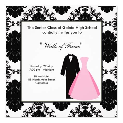 prom invitation templates prom 5 25x5 25 square paper invitation card zazzle