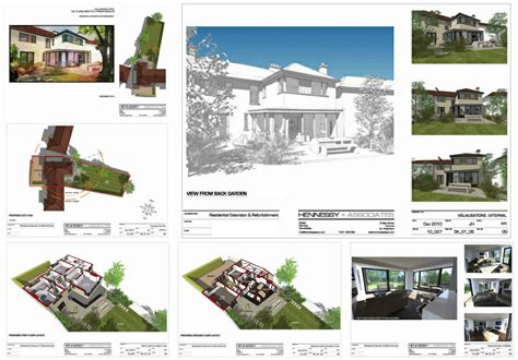 house 3d drawing building contractors kildare dublin private residence dublin hennessy associates