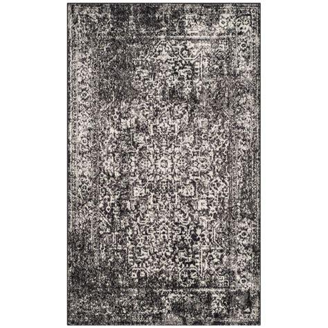 3 ft rugs safavieh evoke black grey 3 ft x 5 ft area rug evk256r 3