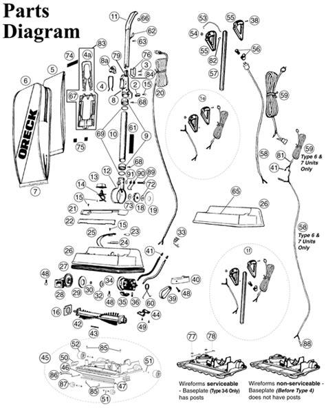 Oreck Xl2000hh Vacuum Parts