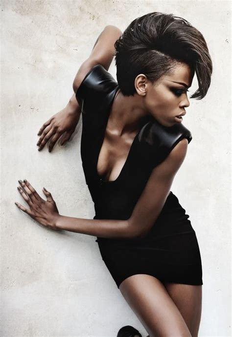black female models with short hair short hairstyles for black women modern punk1966 magazine