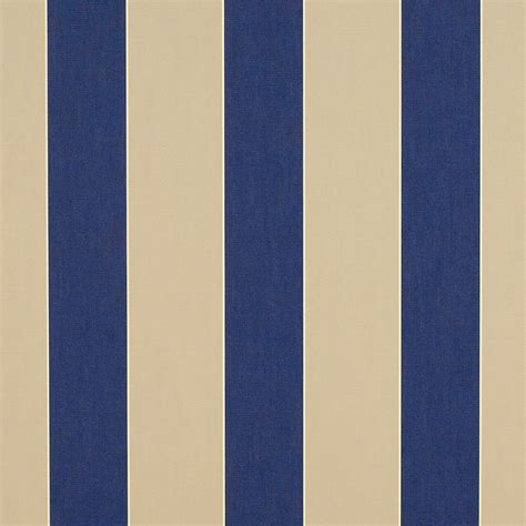 Outdoor Awning Fabric by Sunbrella Canvas Block Stripe Mediterranean 4921 0000