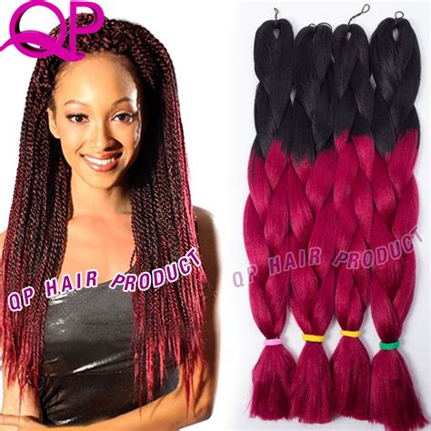 burgundy braiding hair qp hair ombre burgundy kanekalon jumbo braiding hair