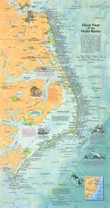 outer banks shipwreck map overview