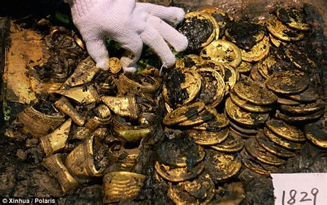 real gold plates discovered across the world gold plates and coins unearthed by archaeologists in china
