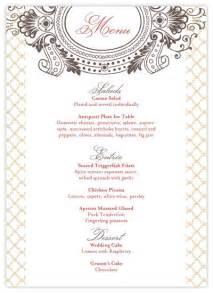 free printable menu templates for wedding 9 best images of free printable wedding menus free