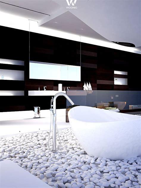 Dekosteine Badezimmer by Die Wei 223 En Steine Am Boden Geben Diesem Futuristischen