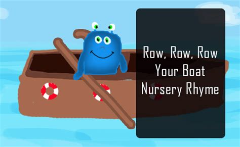 row boat verses nursery rhymes songs singing row row row your boat