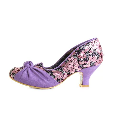 womens irregular choice dazzle pink low heel court