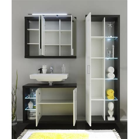 Gloss Bathroom Furniture High Gloss Bathroom Set With Led Lighting Home Furniture