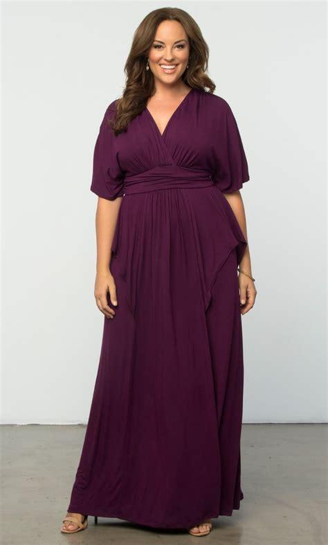 Size 5x Wedding Dresses by Flair Maxi Dress Kiyonna Clothing