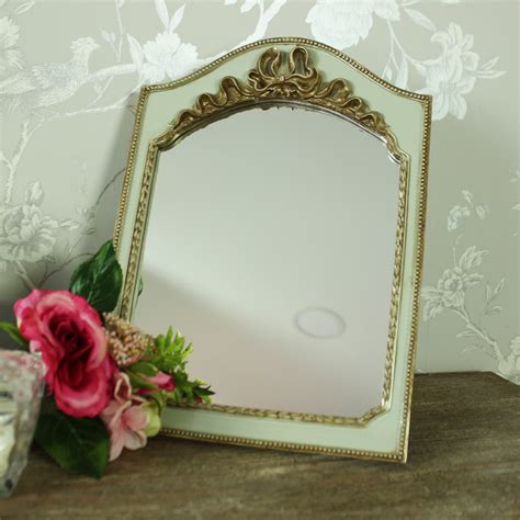 small gold green vintage tabletop wall hanging vanity