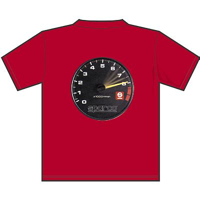 Kaos Sparco T Shirt Sparco sp01600 sparco quot tach quot t shirt rally lights