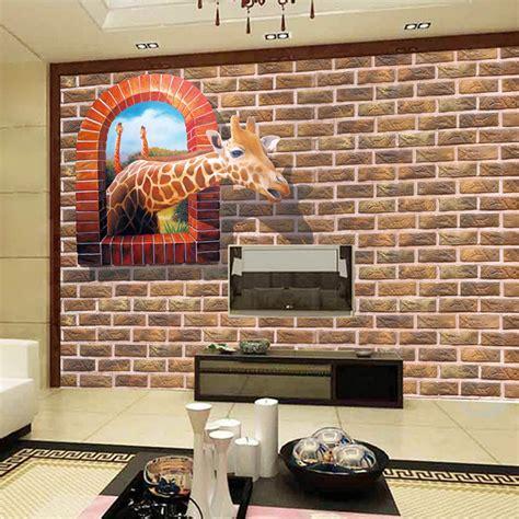 Wallpaper Dinding Vinyl Batu Bata Abu Abu Ro Dv1170 pengiriman gratis retro wallpaper merah bata mural