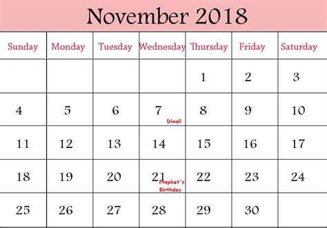printable calendar 2018 for malaysia november calendar 2018 malaysia printable template download