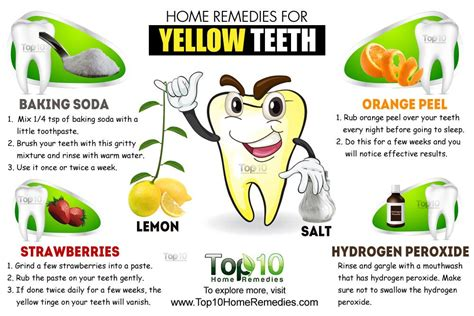 Home Remedies for Yellow Teeth   Top 10 Home Remedies