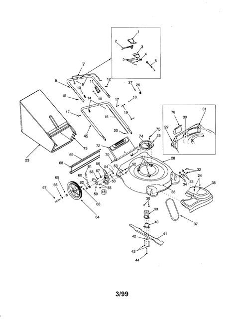 craftsman self propelled lawn mower parts diagram craftsman self propelled mower parts model 247375590
