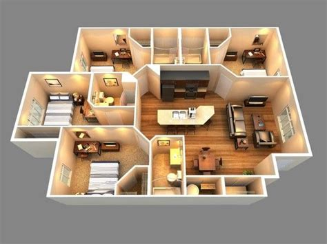 4 bedroom house plans 3d floors floor plans and bedrooms on pinterest