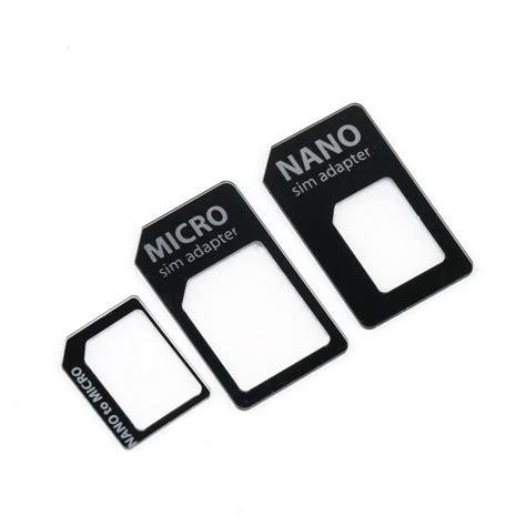 3in1 Noosy Sim Adapter sim microsim adaptor adapter 3 in 1 for nano sim to micro
