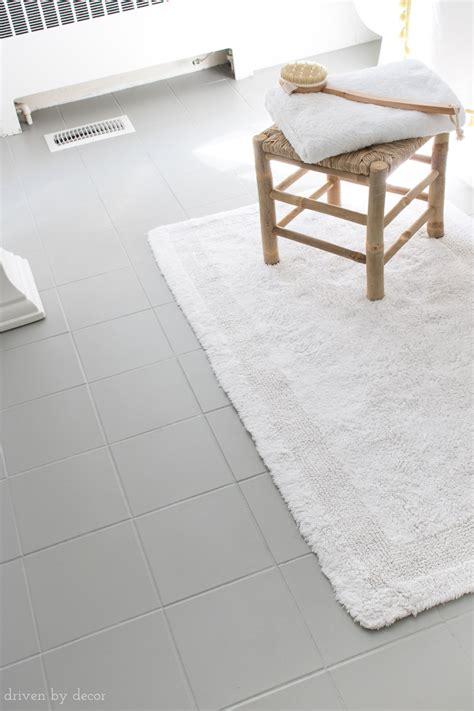 how to paint ceramic tile floor in bathroom how i painted our bathroom s ceramic tile floors a simple