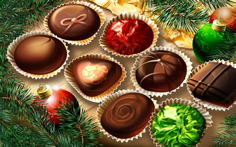 christmas computer wallpaper christmas chocolates