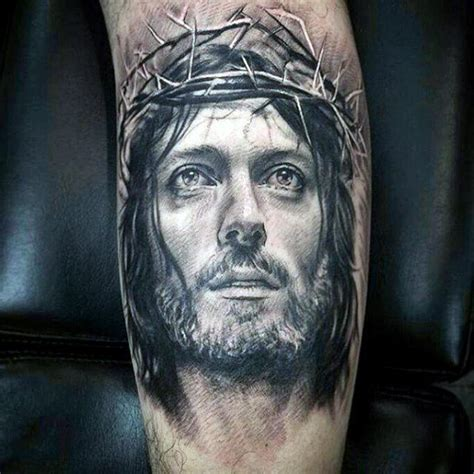 jesus portrait tattoo 60 jesus arm designs for religious ink ideas