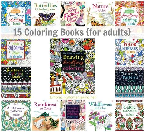 usborne coloring books for adults 15 coloring book