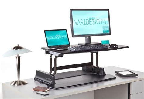 Is A Standing Desk Healthier Varidesk Pro Raise Lower Your Keyboard Amp Monitor To Work