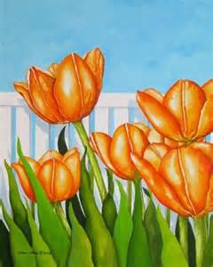 acrylic tulip paintings
