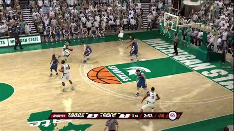 ncaa basketball 10 ps3 roster ncaa basketball 10 ps3 gonzaga vs michigan state espn