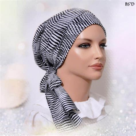 fitted scarf sinar style black waves modest anytime