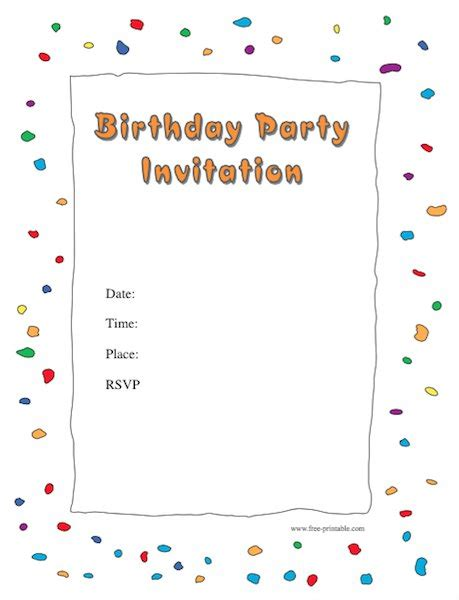 birthday invites free templates 43 free birthday invitation templates free